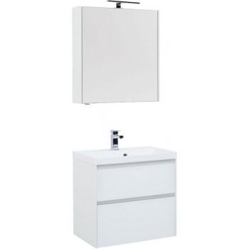 Комплект мебели для ванной Aquanet Гласс 70 белый