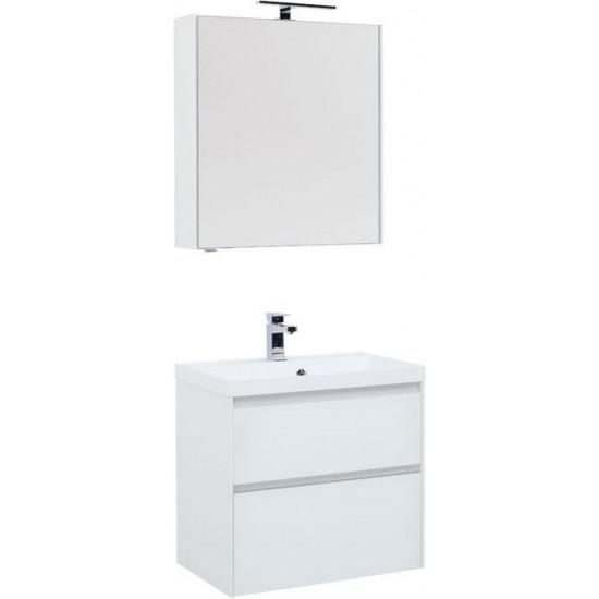 Комплект мебели для ванной Aquanet Гласс 70 белый в интернет-магазине ROSESTAR фото