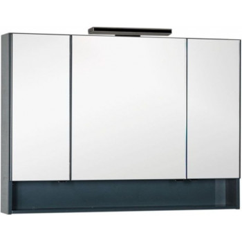 Зеркало-шкаф Aquanet Виго 120 сине-серый