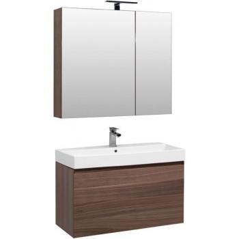 Комплект мебели для ванной Aquanet Нью-Йорк 100 орех