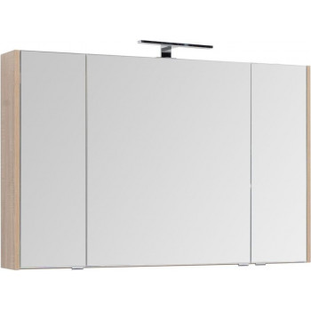 Зеркало-шкаф Aquanet Остин 120 дуб сонома