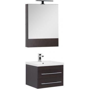 Комплект мебели для ванной Aquanet Нота NEW 58 венге (камерино)