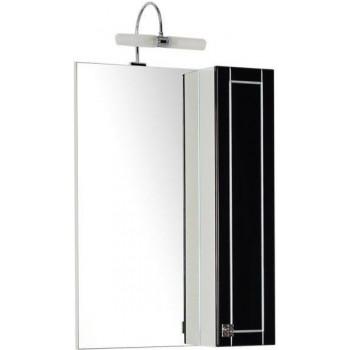 Зеркало-шкаф Aquanet Честер 60 черный/серебро