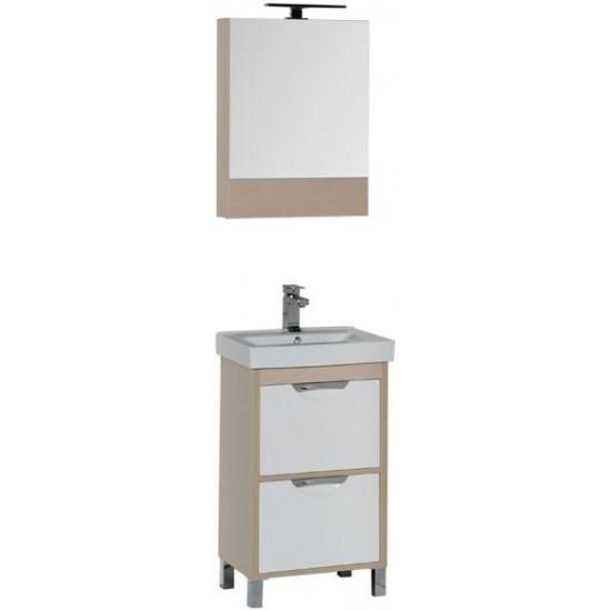 Комплект мебели для ванной Aquanet Гретта 50 светлый дуб в интернет-магазине ROSESTAR фото