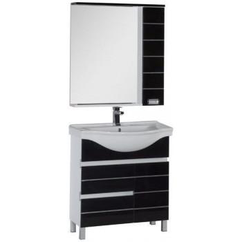 Комплект мебели для ванной Aquanet Доминика 80 бк черный