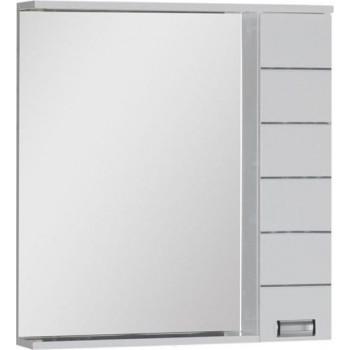 Зеркало-шкаф с подсветкой Aquanet Доминика 80 LED белый