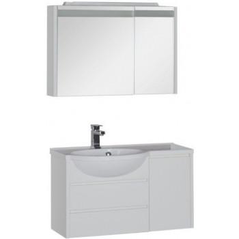 Комплект мебели для ванной Aquanet Лайн 90 L белый