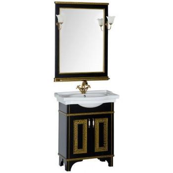 Комплект мебели для ванной Aquanet Валенса 70 черный краколет/золото