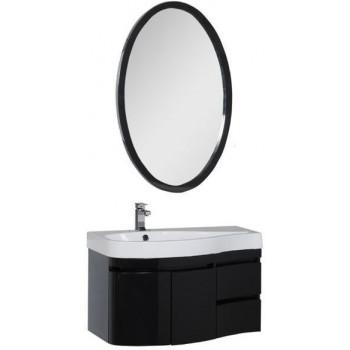 Комплект мебели для ванной Aquanet Сопрано 95 L черный (2 дверцы 2 ящика)