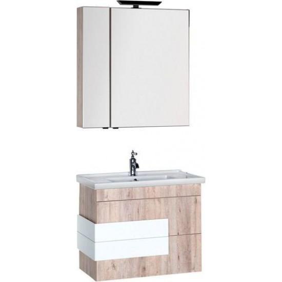 Комплект мебели для ванной Aquanet Мадейра 80 дуб кантри в интернет-магазине ROSESTAR фото