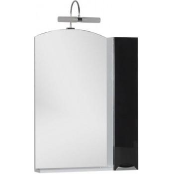 Зеркало-шкаф Aquanet Асти 65 черный (шкаф/полка)