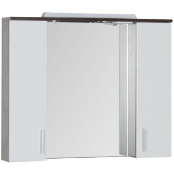 Зеркало-шкаф с подсветкой Aquanet Тиана 100 венге