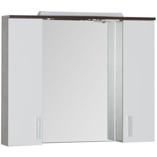 Зеркало-шкаф с подсветкой Aquanet Тиана 100 венге в интернет-магазине ROSESTAR фото