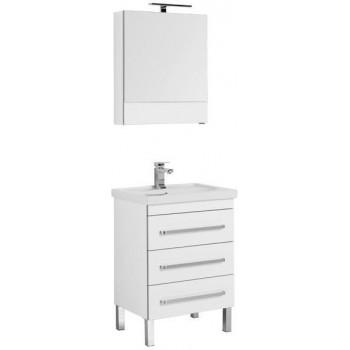 Комплект мебели для ванной Aquanet Сиена 60 белый (напольный 3 ящика)