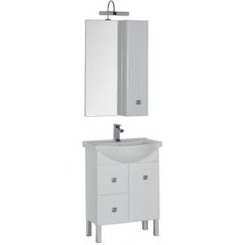 Комплект мебели для ванной Aquanet Стайл 65 белый (1 дверца 2 ящика)