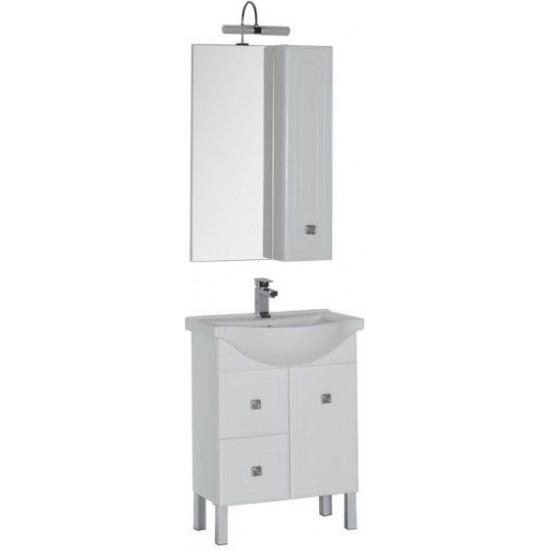 Комплект мебели для ванной Aquanet Стайл 65 белый (1 дверца 2 ящика) в интернет-магазине ROSESTAR фото
