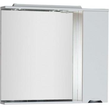 Зеркало-шкаф с подсветкой Aquanet Гретта 100 светлый дуб