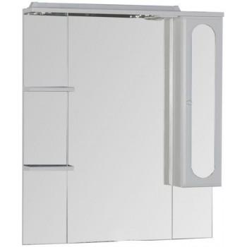 Зеркало-шкаф с подсветкой Aquanet Марсель 90 белый