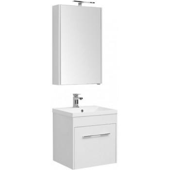 Комплект мебели для ванной Aquanet Августа 58 белый