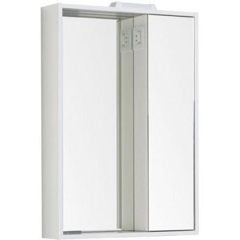 Зеркало-шкаф с подсветкой Aquanet Клио 60 белый