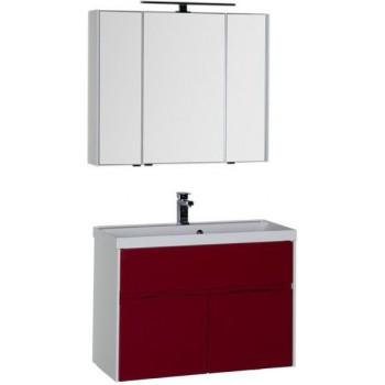 Комплект мебели для ванной Aquanet Латина 90 бордо