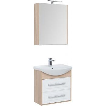 Комплект мебели для ванной Aquanet Остин 65 дуб сонома/белый