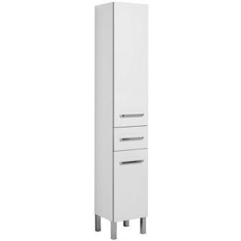 Шкаф-пенал для ванной Aquanet Сиена 35 L белый (напольный)