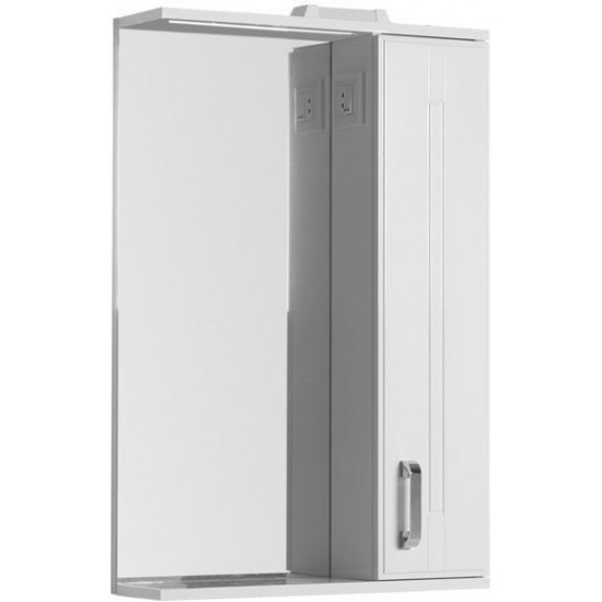 Зеркало-шкаф с подсветкой Aquanet Рондо 60 белый в интернет-магазине ROSESTAR фото