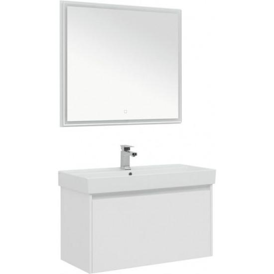 Комплект мебели для ванной Aquanet Nova Lite 90 белый (1 ящик) в интернет-магазине ROSESTAR фото