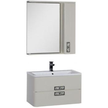 Комплект мебели для ванной Aquanet Паллада 80 слоновая кость