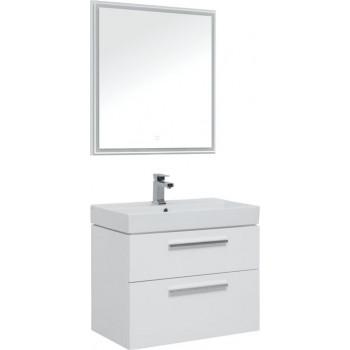 Комплект мебели для ванной Aquanet Nova 75 белый (2 ящика)