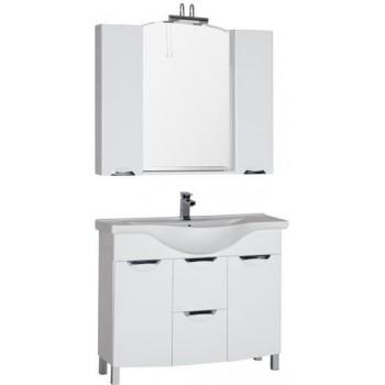 Комплект мебели для ванной Aquanet Асти 105 б/к белый