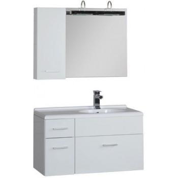 Комплект мебели для ванной Aquanet Данте 85 R белый (1 навесной шкафчик)