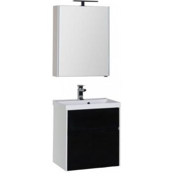 Комплект мебели для ванной Aquanet Латина 60 черный (2 ящика)
