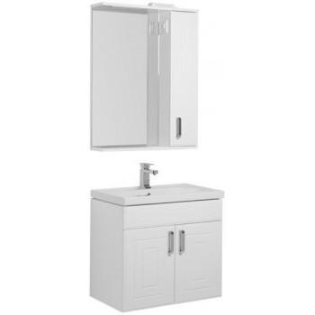 Комплект мебели для ванной Aquanet Рондо 70 белый (2 дверцы)