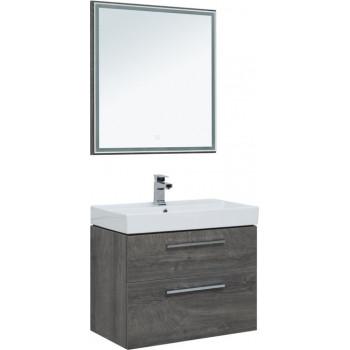 Комплект мебели для ванной Aquanet Nova 75 дуб рошелье (2 ящика)