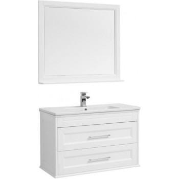 Комплект мебели для ванной Aquanet Бостон М 100 белый