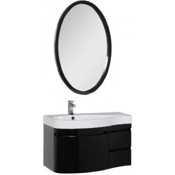 Комплект мебели для ванной Aquanet Сопрано 95 L черный (3 ящика)