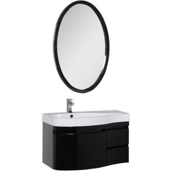 Комплект мебели для ванной Aquanet Сопрано 95 L черный (3 ящика) в интернет-магазине ROSESTAR фото