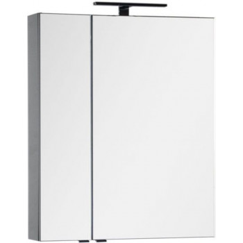 Зеркало-шкаф Aquanet Эвора 70 серый антрацит