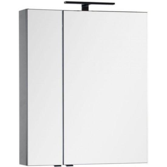 Зеркало-шкаф Aquanet Эвора 70 серый антрацит в интернет-магазине ROSESTAR фото
