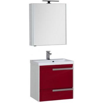 Комплект мебели для ванной Aquanet Тиволи 70 бордо