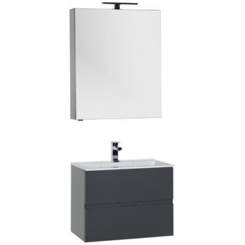 Комплект мебели для ванной Aquanet Алвита 70 серый антрацит