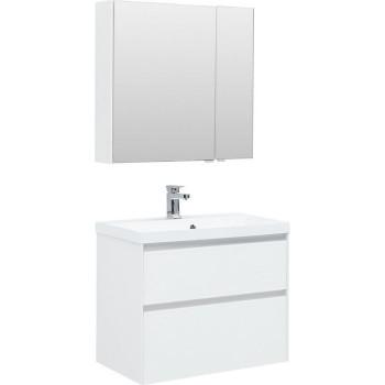 Комплект мебели для ванной Aquanet Гласс 80 белый