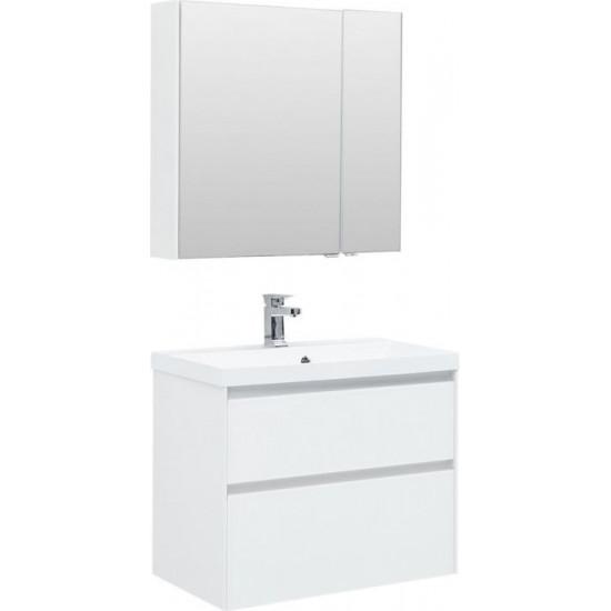Комплект мебели для ванной Aquanet Гласс 80 белый в интернет-магазине ROSESTAR фото
