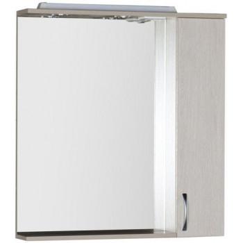 Зеркало-шкаф с подсветкой Aquanet Донна 80 белый дуб