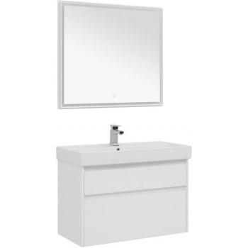 Комплект мебели для ванной Aquanet Nova Lite 90 белый (2 ящика)