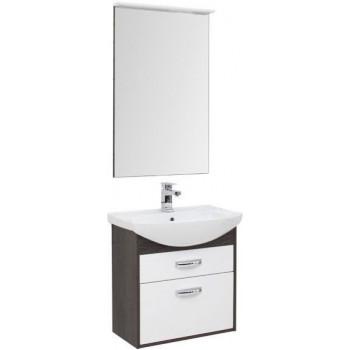 Комплект мебели для ванной Aquanet Грейс 65 дуб кантербери/белый (2 ящика)