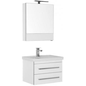 Комплект мебели для ванной Aquanet Сиена 60 белый (подвесной 2 ящика)