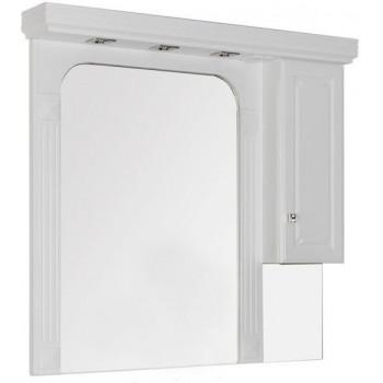Зеркало-шкаф Aquanet Фредерика 125 белый
